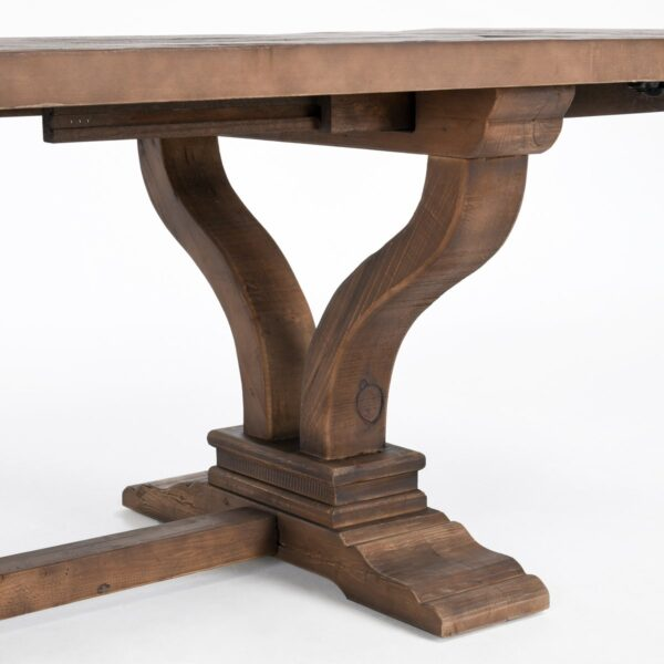 Dining table with leaves leg detail