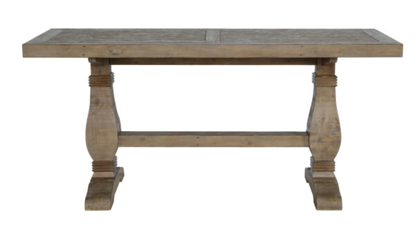 reclaimed wood counter table