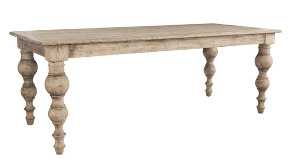 distressed wood dining table