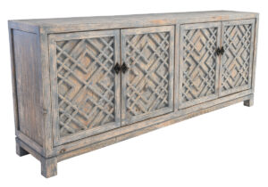 Antigua Distress Blue Wood Sideboard