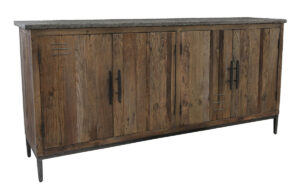 71″ Reclaimed Wood and Stone Ellen Sideboard