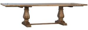 Lauren Trestle Base Wood Extendable Dining Table