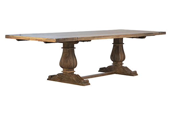 Trestle dining table with extensions