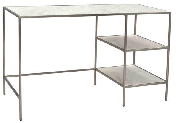 White marble desk