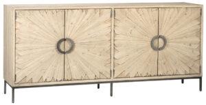 Mabari White Grey Wood Sideboard