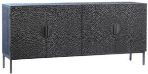 79″ Black Textured Cabinet Media Console