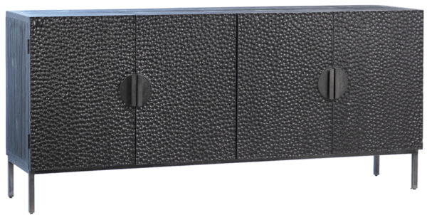 black wood and iron sideboard