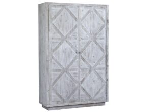 Mallow White Wash Tall Wood Cabinet