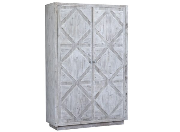 Large white wash tall armoire