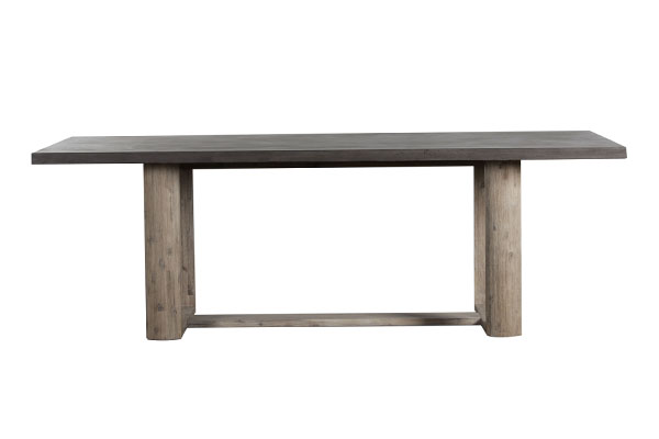 concrete top and wood base dining table