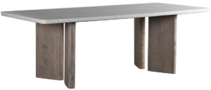 91″ Harrell Terrazzo and Wood Dining Table