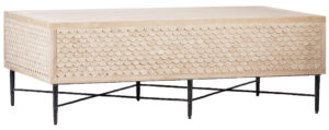 Dorian White Washed Wood Coffee Table