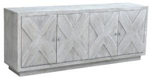 Grayson White Wash Wood Sideboard