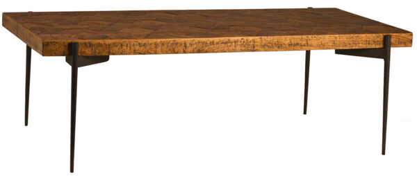 parquet top wood coffee table