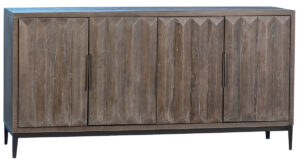 68″ Delta Rustic Grey Wood Sideboard