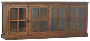 Barker Reclaimed Wood Glass Sideboard