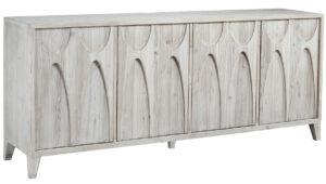 Montes White Wash Wood Sideboard