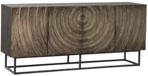 Milton Oak Sideboard with Iron Base