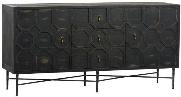 black wood cabinet