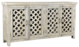 Virac White Wash Distressed Wood Sideboard