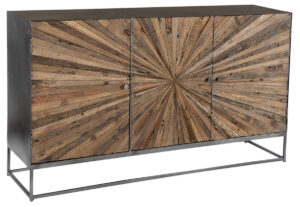 59″ Hasse Reclaimed Wood and Steel Sideboard