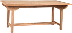 70″ Natural Teak Outdoor Dining Table