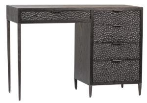 Wood and Iron Black Desk