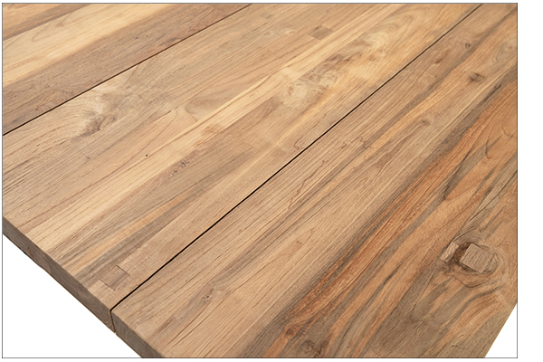 Natural teak wood dining table