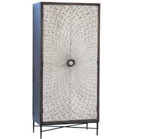 77″ Tall Reclaimed Wood and Iron Webb Cabinet