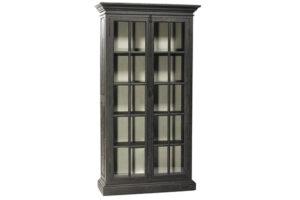 91″ Tall Barnsley Black Glass Cabinet