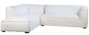 Basford L Shape White Slipcover Sectional