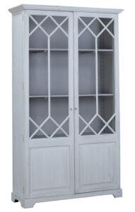 91″ Tall Alton White Wash Wood Cabinet