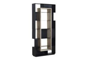 87″ Tall Carina Wood and Metal Bookshelf