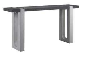 71″ Amadeo Wood and Concrete Console Table