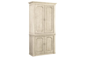 91″ Tall Grey White Wood Cabinet