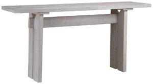 72″ Balboa Grey White Wood Console Table