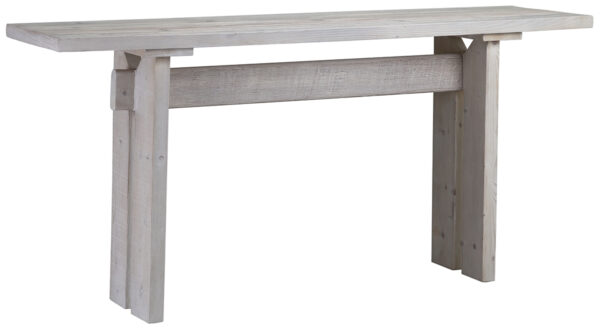 grey white console table