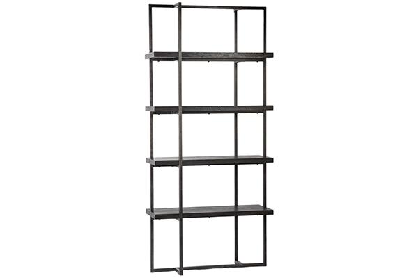 Belvin Reclaimed Wood and Iron Bookshelf