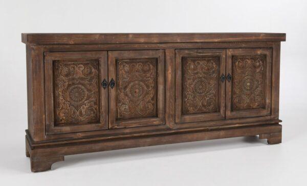 carved wood sideboard