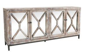 Whitewash Maywood Mirrored Sideboard