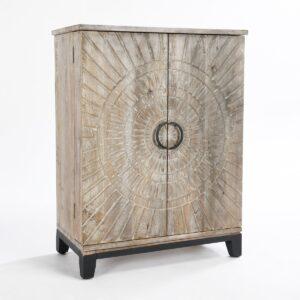 Rustic Vivienne Wood Bar Cabinet