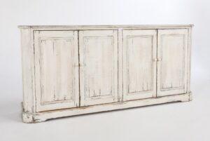 83″ Christina White Distressed Sideboard