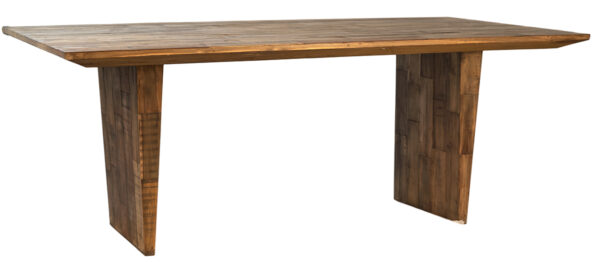 Reclaimed teak dining table 79 inches