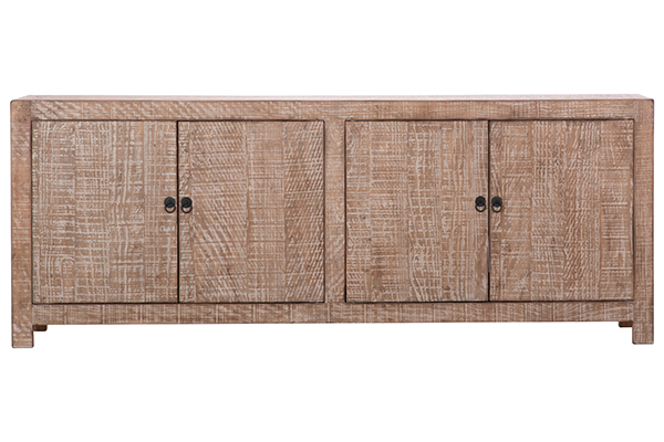 natural wood sideboard front view