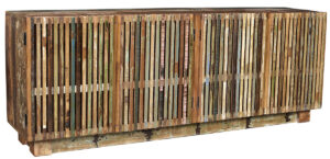 80″ Garda Sideboard with Slatted Doors