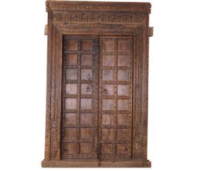 Teak Wood Vintage Doors with Frame