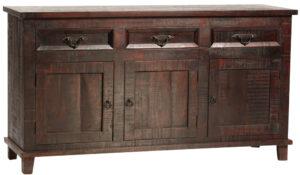 66″ Havana Dark Wood Sideboard with Drawers