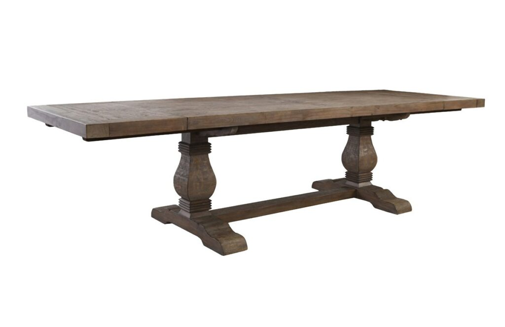 114″ Trestle Dining Table with Extensions