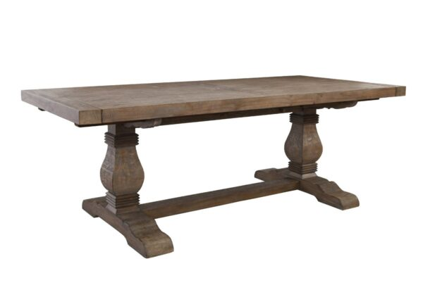 Trestle dining table with leaves