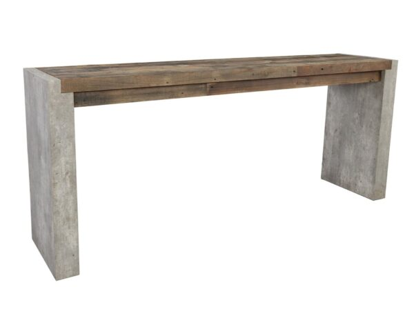 Wood and concrete console table